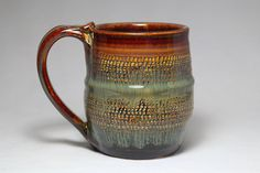 12oz stoneware pottery mug ceramic coffee cup by DrostePottery