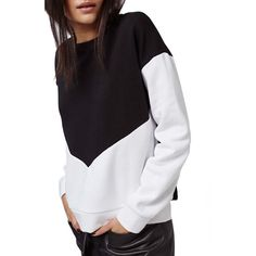 Topshop Colorblock Sweatshirt •Asymmetrical color blocking in monochromatic hues style this classic crewneck sweatshirt.  •US 10: Best for a L/XL.  •New without tag.  •NO TRADES/PAYPAL/MERC/VINTED/NONSENSE.  •PLEASE USE OFFER FEATURE IF YOU WANT TO NEGOTIATE PRICE. Topshop Tops Sweatshirts & Hoodies