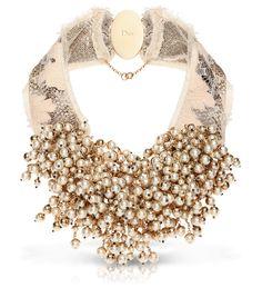 Dior pearl choker