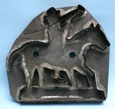 Horse & Rider Blowing Horn Cookie Cutter Southeastern Pennsylvania., 19th century