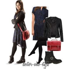Designer Clothes, Shoes & Bags for Women Clara Oswald Fashion, Style Sheet, Nikki Reed, Geek Fashion, Jenna Coleman, Inspired Outfits, College Outfits, Geek Chic, Cosplay Ideas