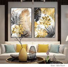 Nordic Tropical Gold Leaves Abstract Wall Art Posters Fine Art Canvas Prints For Modern Office Or Apartment Pictures For Living Room Decor is part of Poster wall art Nordic Tropical Gold Leaves Abst - Living Room Pictures, Wall Art Pictures, Modern Pictures, Plant Pictures, Modern Room, Modern Decor, Modern Interior, Modern Wall Art, Modern Living