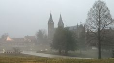 St. Meinrad Archabbey and Seminary in the rain.