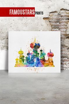 Merida print Pixar Brave Disney print poster by FamouStarsPrints Watercolor Disney, Watercolor Print, Kids Wall Decor, Art Decor, Home Decor, Merida, Pixar, Cinderella Silhouette, Love Posters