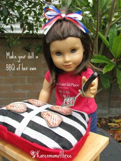 Doll Craft: July 4th BBQ Set From Felt