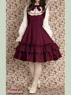 Meryl OP (Re-release) by Mary Magdalene Pretty Outfits, Pretty Dresses, Beautiful Dresses, Cute Outfits, Emo Outfits, Harajuku Fashion, Kawaii Fashion, Cute Fashion, Rock Fashion