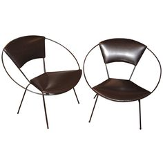 Pair of Circle Chairs Designed by Joseph Cicchelli for Reilly-Wolff, ca.1953