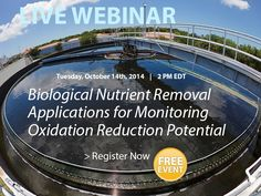 Webinar Invite: Biological Nutrient Removal Applications for Monitoring Oxidation Reduction Potential (ORP). #wastewater https://www1.gotomeeting.com/register/590740424
