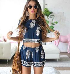 Image via We Heart It #blue #body #fashion #girl #hair #spring #style #summer #sunglasses