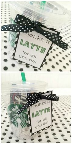 Thanks a Latte Appreciation Gift. Great for teachers!