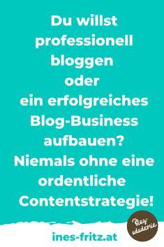 Die Content-Strategie für deinen Blog unterscheidet dich von Hobbybloggern und bringt deinen Blog aufs nächste Level: mehr Leser erreichen, mehr Einnahmen mit deinem Blog erzielen und endlich produktiv und professionell bloggen! Die besten Tipps für die Erstellung und Umsetzung!   #blogstrategie #contentplan #redaktionsplan #toolsblogger #tippsblogger #professionellbloggen #mitbloggengeldverdienen #blogbusiness #besserbloggen #bloggenlernen #erfolgreichbloggen Email Marketing, Content Marketing, Affiliate Marketing, Office Organisation, Business Inspiration, Seo, Videos, Passive Income, Search Engine Optimization