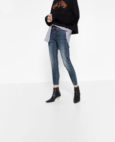 MID RISE DISTRESSED JEANS-View all-JEANS-WOMAN | ZARA United States
