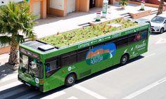 paisagista espanhol Marc Grañen coloca jardins no teto dos ônibus de Girona, na Catalunha, Espanha