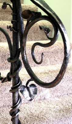 Hand Crafted Art Nouveau Handrail And Others by Earth Eagle Forge | CustomMade.com