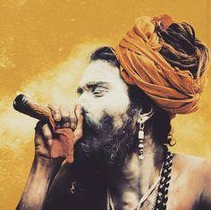 """""""Sacrament  #sadhu #holyman #aghori #holymen #India #varanasi #Indian #culture #smoke #sacrament #herb #herbisthehealing #Ganja #weed #naturalmystic…"""""""
