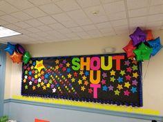 Teacher Appreciation Shout Out board.