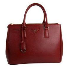 Prada BN1786 Bordeaux Saffiano Leather Handbag « Impulse Clothes