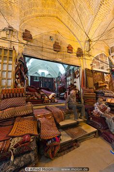Carpet shop in Iran