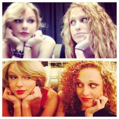 Taylor Swift, with her best friend, I qant a bestie that stays with me through everything, forever!