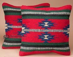 Pair Southwestern Pillow Covers 18x18 -Havasupai Pattern