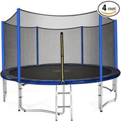 Zupapa 15 14 12 FT TUV Approved Trampoline with Enclosure net and poles Safety Pad Ladder Jumping Mat Rain Cover, Mini Trampolines 15 Ft Trampoline, Trampoline Reviews, Backyard Trampoline, Professional Trampoline, Kids Yard, Backyard Chicken Coops, Thing 1, Look Good Feel Good, Modern Backyard