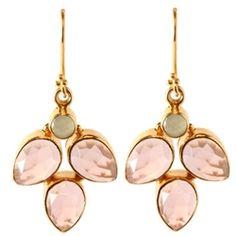 Julie Elizabeth Pink Petal Shaped Earrings