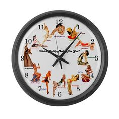 I've got to get this pin up girl clock for my hubby!