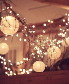 Garlands are easy and inexpensive ways to add big charm to your reception – inside or out! String lights and paper lanterns from Ikea go a long way.