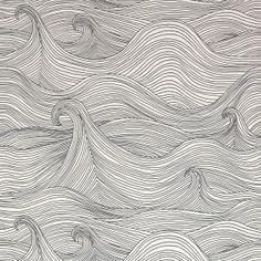 Seascape Wallpaper - Winter by Abigail Edwards