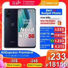 Global Version OnePlus Nord N10 5G 6GB 128GB Snapdragon 690 Smartphone 90Hz Display 64MP Quad Cams Warp 30T NFC #Phone_Shops #Cell_Phone_Prices #Smartphones_For_Sale #Mobile_Gadgets #Phone_Gadgets #Phone_Shops #Gadget Shop cell phone cell phones quotes smartphone
