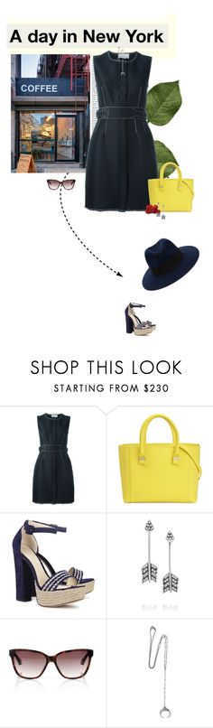 """A Day in the City"" by likepolyfashion ❤ liked on Polyvore featuring Coffee Shop, 3.1 Phillip Lim, Victoria Beckham, Alexandre Birman, Pamela Love, Vivienne Westwood, Chan Luu, Maison Michel and fashionset"