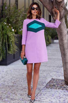 lavender shift dress