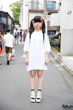 Harajuku Girl w/ Twin Tails, Bunny Hair Clip, WEGO & Spinns Fashion (Tokyo Fashion, 2015)