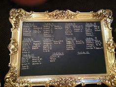 Ornate frame- Chalkboard/ Mirror. Paint over the gold! #craigslist