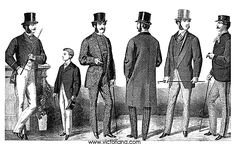 Fashion History | 1860s: Men's Victorian Clothing [April 18, 1868]