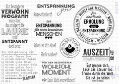 Stempelplatte WELLNESS UND ENTSPANNUNG von AEH-Design auf DaWanda.com