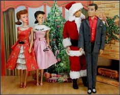 And what would you like for Christmas Ken. I can't say in front of Barbie Santa!