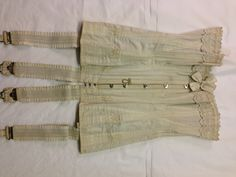 Cotton canvas corset