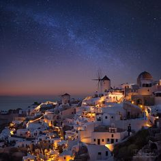 """The Milky Way above Santorini - Photos from the beautiful island of Santorini.  <a href=""""http://www.danielrericha.cz"""">www.danielrericha.cz</a> 