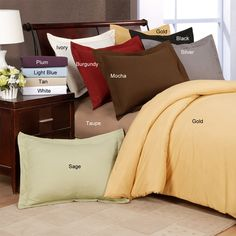 This luxurious microfiber duvet cover set is just the item to make slipping into bed after a long day the most exciting part of your day. This set features plush microfiber construction that is machine washable and durable for year round use.