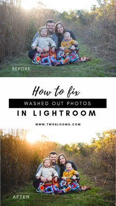 How to fix photos in Lightroom