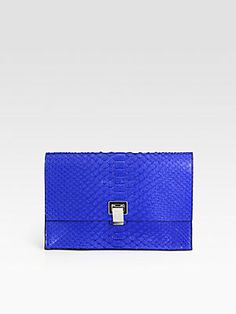 Proenza Schouler Lunch Bag Small Python Clutch - someone couold buy me this for Christmas (hint, hint).  Just kidding, it's $1275, but the color is fabulous.