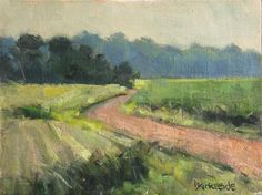 "Daily Paintworks - ""Pastoral Poetry - Southern Minnesota Landscape En Plein Air"" - Original Fine Art for Sale - © Deb Kirkeeide"
