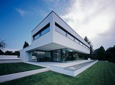 House with a magnificent view: House P by Philipp Architekten. in Waldenburg, Germany.