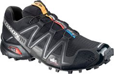 Salomon Speedcross 3. As comfy as my Nike Running shoes, but much more durable and built for the trail.