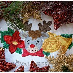 Machine Embroidery Design - Christmas border 2