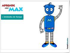 """Aprende con Max: """"Unidades de tiempo"""" (Juego de Primaria)"""