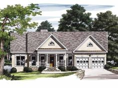 Country House Plan with 2056 Square Feet and 3 Bedrooms from Dream Home Source | House Plan Code DHSW10509