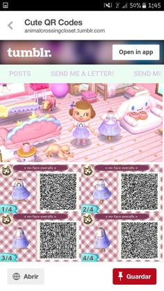 Animal crossing Wildwechsel The post Wildwechsel appeared first on Rose Dickson. Qr Code Animal Crossing, Animal Crossing Qr Codes Clothes, Animal Crossing Pocket Camp, Kawaii, Motif Acnl, Ac New Leaf, Happy Home Designer, Post Animal, Happy Fun