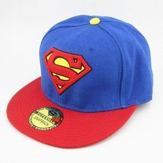 Superman Snapback Hat DC Comics Man Of Steel Adjustable Cap – eDealRetail